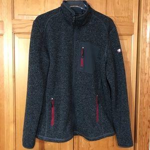 Swiss Tech Men's  Full Zip Outdoor Sweater Jacket